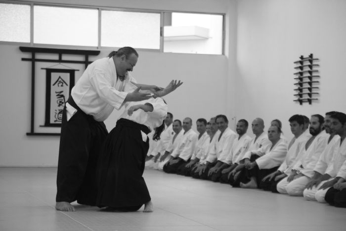Shihan Urban Aldenklint in November 2014 Aikido Camp Athens